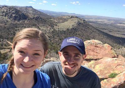 Couple in Wichita Mountain Wildlife Refuge