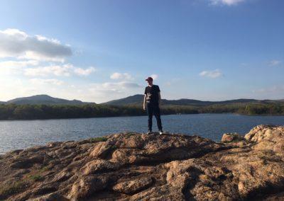 Small lake in Wichita Mountain Wildlife Refuge