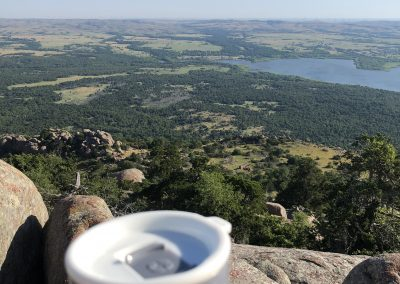 View off the top of Mount Scott in the Wichita Mountains