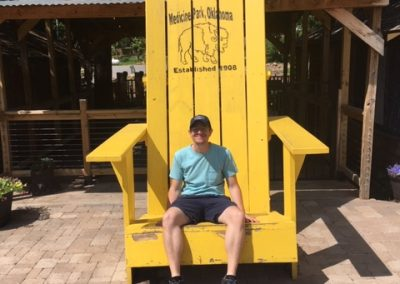Medicine Park's Big Yellow Chair